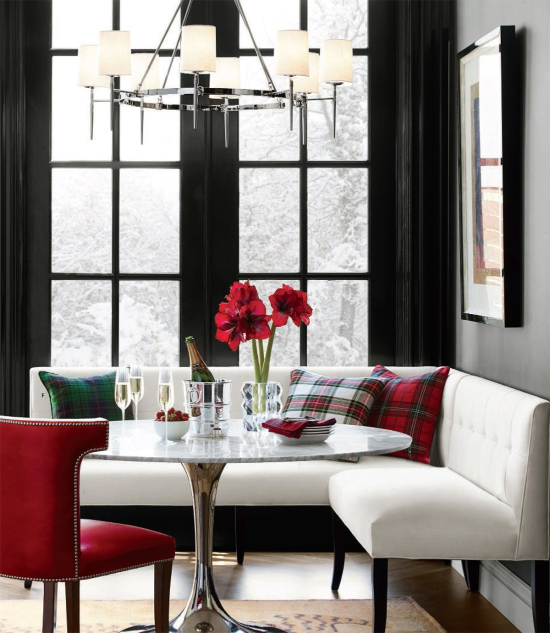 Modern Christmas in Black, White & Red