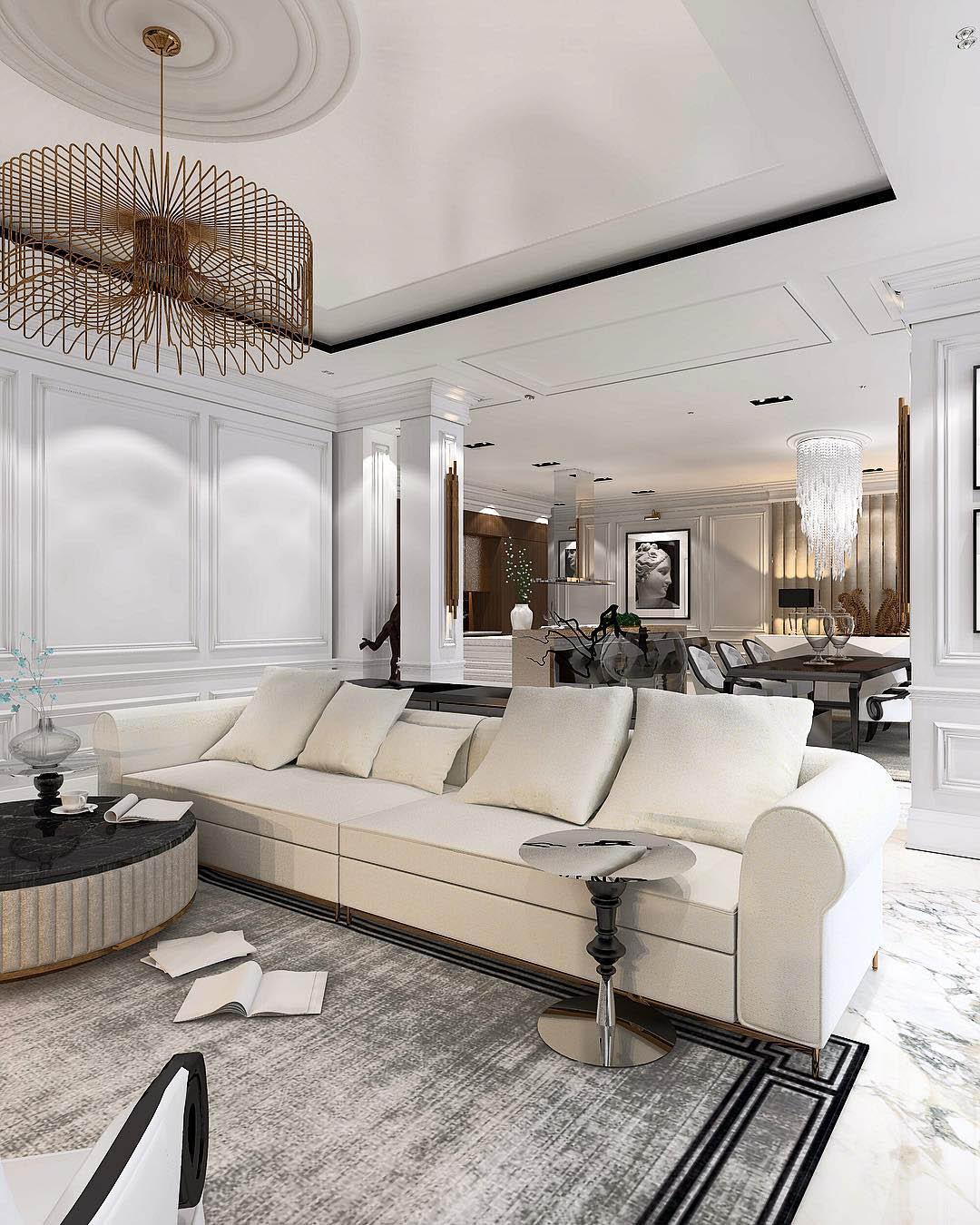 Glamorous Living Room Ideas | Constantin Frolov Interior Design
