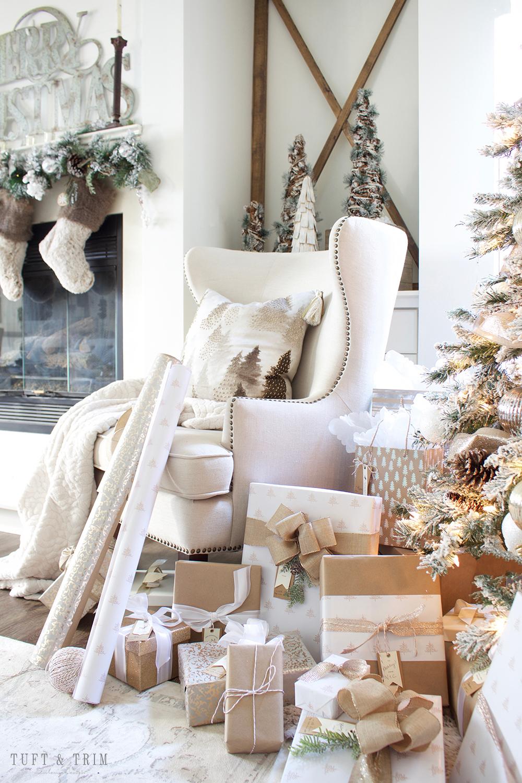 Champagne and White Christmas | Tuft & Trim Blog