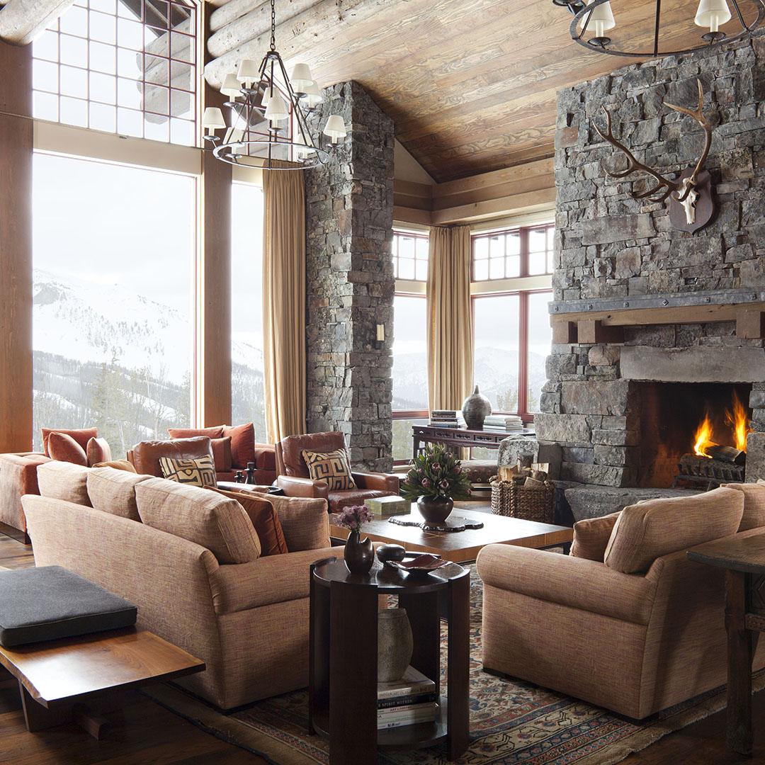 Michael S. Smith Modern Mountain Home