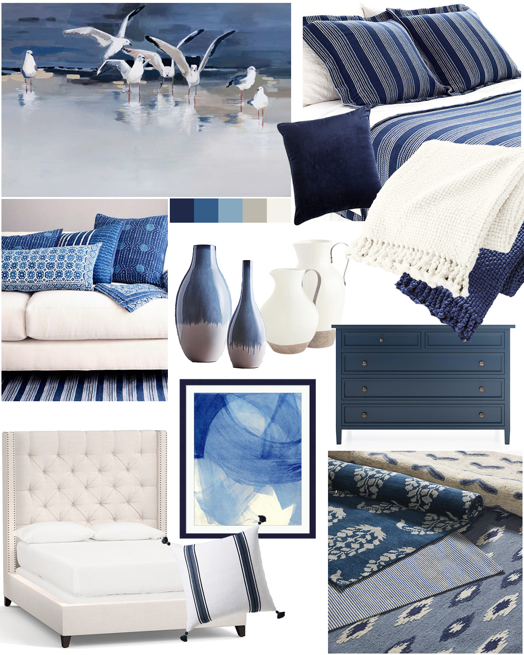 Modern Coastal Bedroom Designed By Tracy Svendsen | Buyer Select Blog