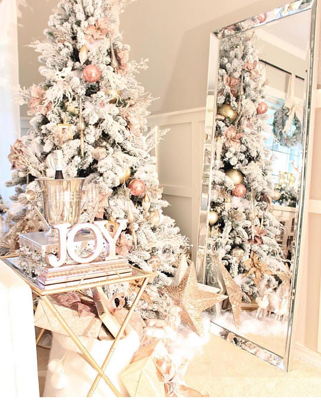 Glamorous Blush Christmas Tree | El Peterson Design