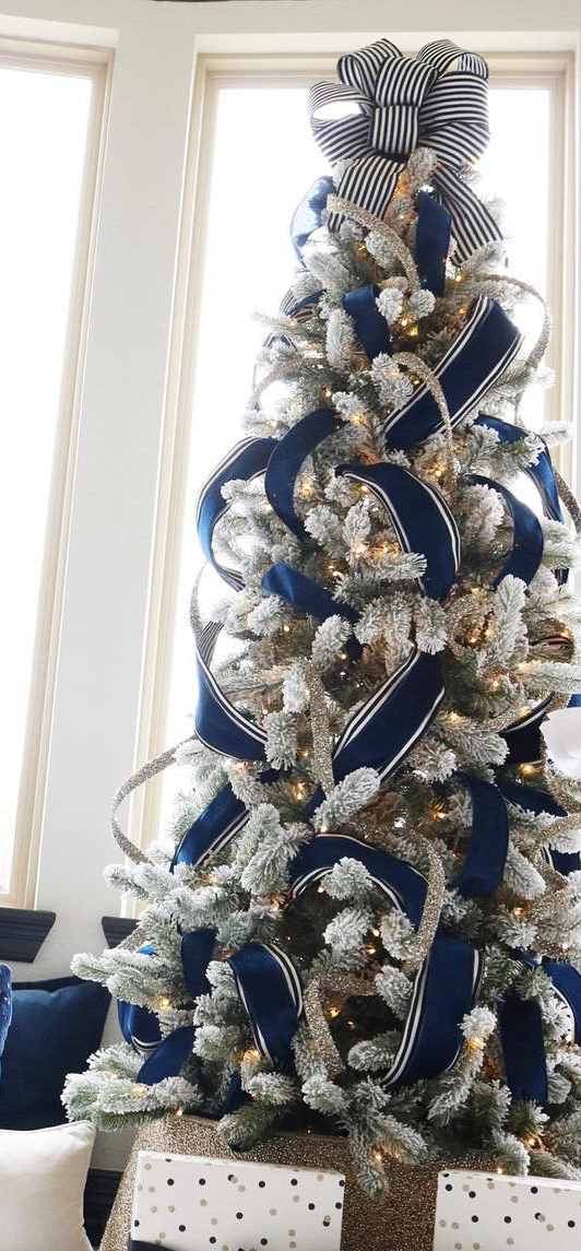 Blue Christmas Tree | Melissa Roberts Interiors