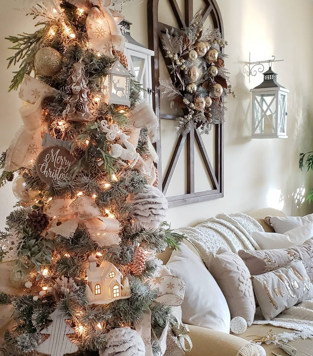 Rustic Christmas Tree | Blessed at Home