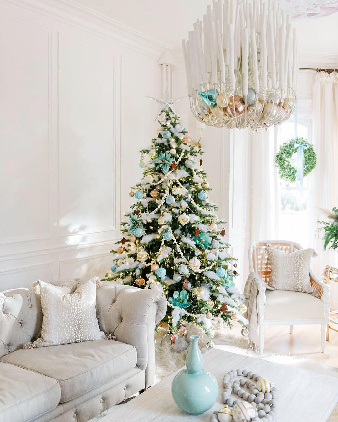Blue & Green Christmas Tree | The Leslie Style