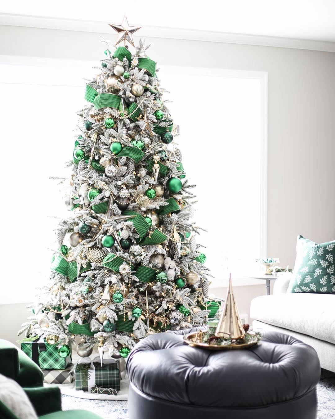 Green & Silver Christmas Tree | Inspired by Charm