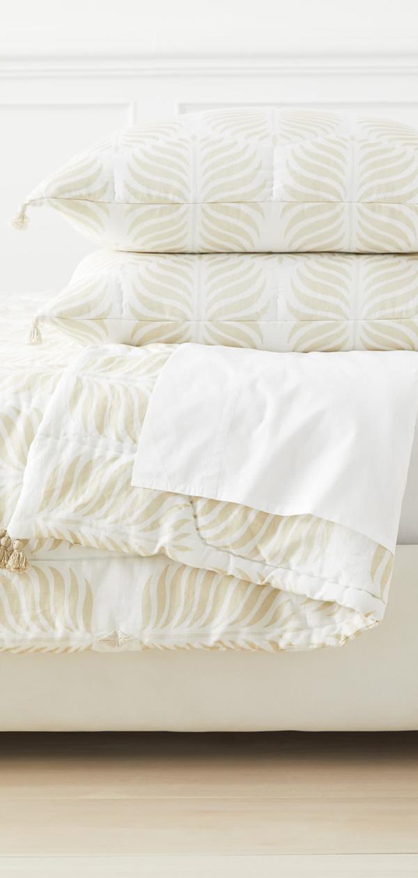 Granada Quilt in Sand | Bedroom Decorating Ideas