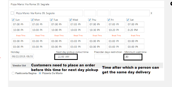 cut out and wait time for WooODT Extended for Multi Vendor