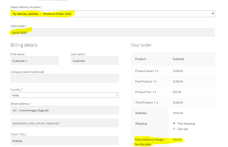 Specific Day Charges In WooCommerce