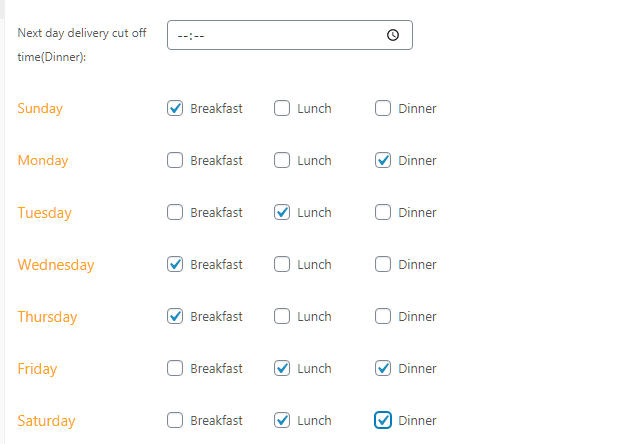 Restaurant Menu Rotation Setup