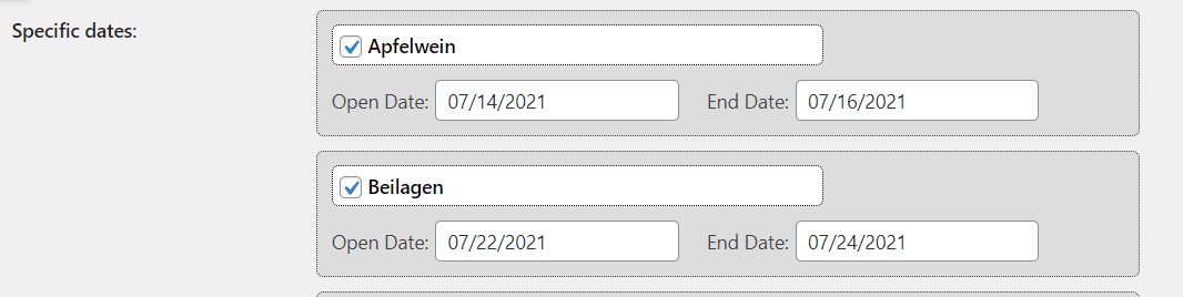 Specific Date Per Product in WooCommerce