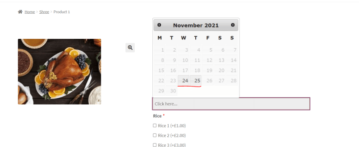 Product Availability by Date