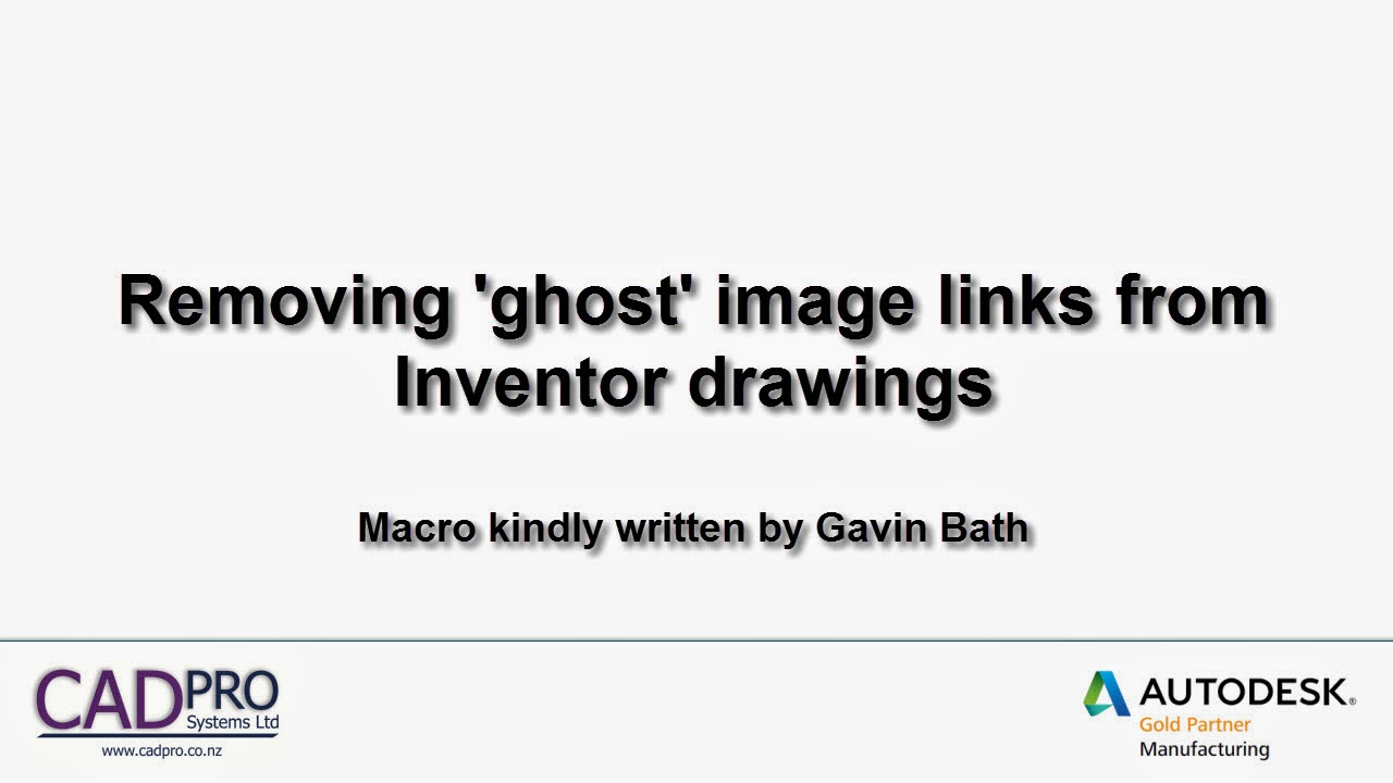 Removing 'Ghost' image links from Inventor drawings to allow Check In to Vault