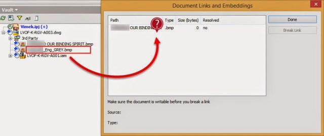 Where is the second image in the links dialog?