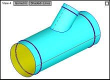 CAMduct Multiple Branched Round Duct