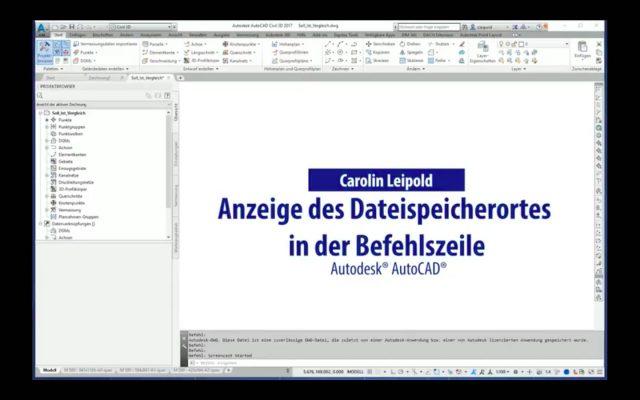 Anzeige des Dateispeicherortes in der Befehlszeile - Autodesk® AutoCAD® - DWGPREFIX - CADsys