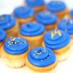 mini cupcakes in school colors