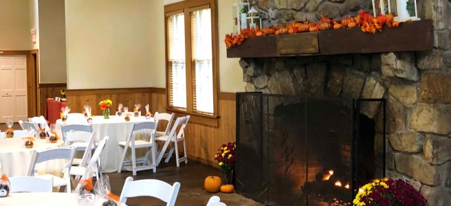 autumn bridal shower at Schooley's Mountain Lodge catered by Pierrot Catering in nj