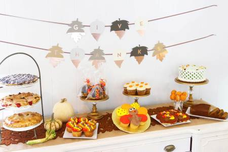 Thanksgiving Dessert Display ideas from Cafe Pierrot in Sparta NJ