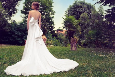wedding dress with giant bow on the back