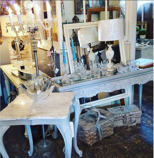 antiques at made in the shade shop in andover borough nj