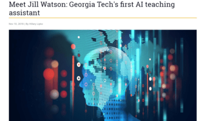 Jill Watson: AI teaching assistant