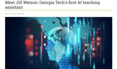 Jill Watson: AI teaching assistant