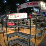 Cambro booth NAFEM Shelving