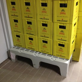 Cambro Dunnage Stand in Beverage Room at Unaway Hotel - San Lazzaro Italy