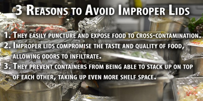 3 Reasons to avoid improper lids