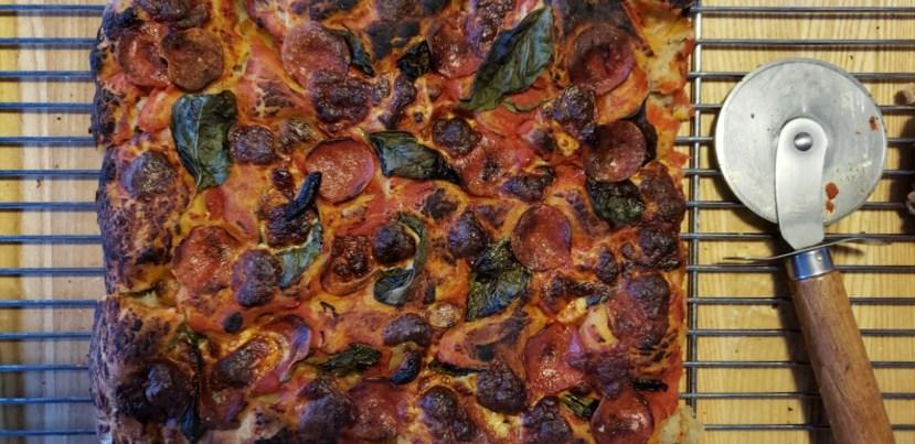 finished pepperoni focaccia