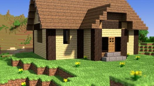 3D Minecraft Render Cabin
