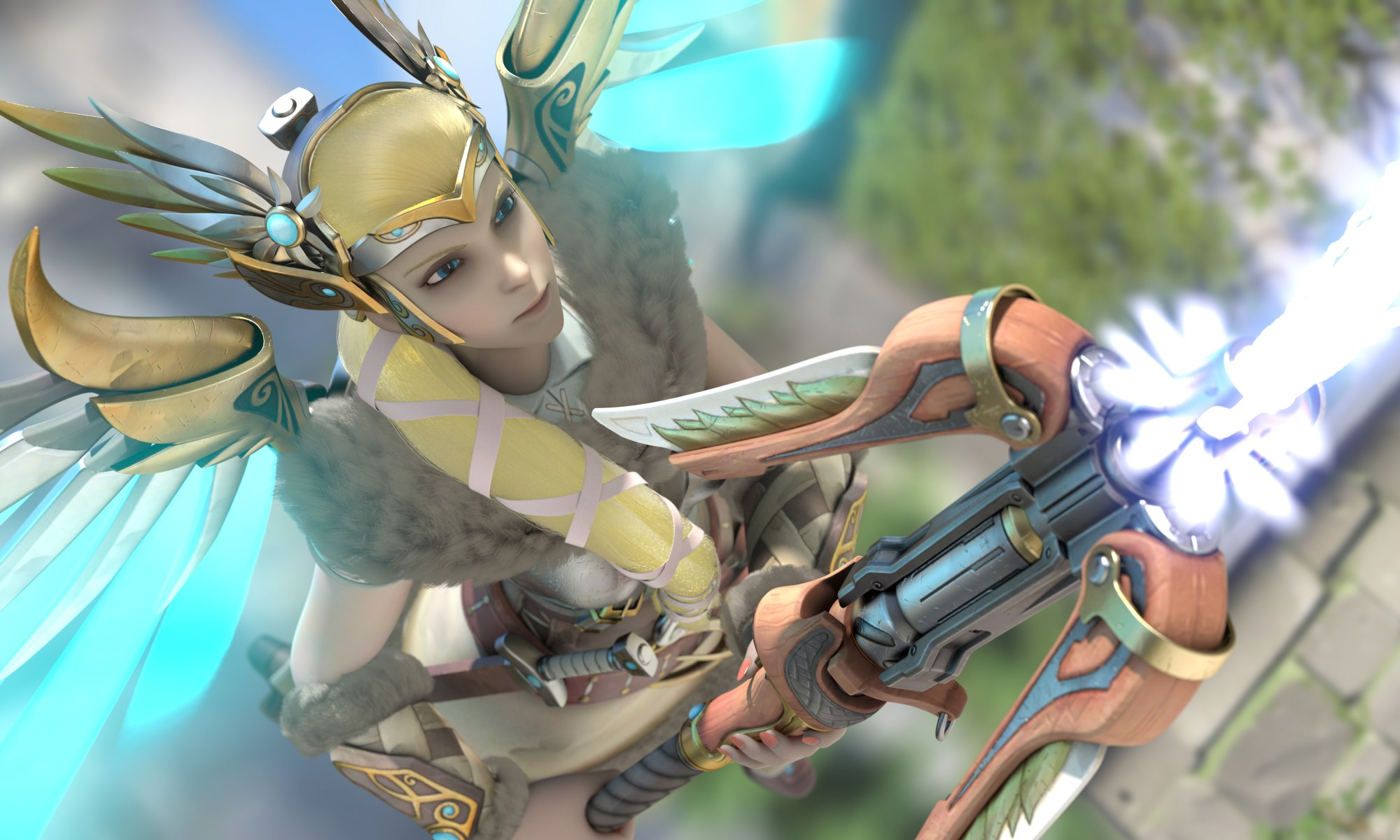 3D Overwatch Mercy Valkrie Wallpaper Fanart