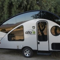 Alto Teardrop Camper At A Campsite In The Woods