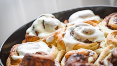 Delicious Cinnamon Rolls Made In A Dutch Oven Camping