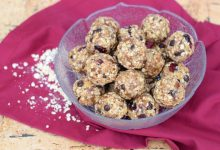 camping energy bite balls with chocolate chips