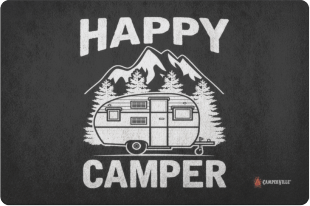 gifts for rv owners - happy camper doormat