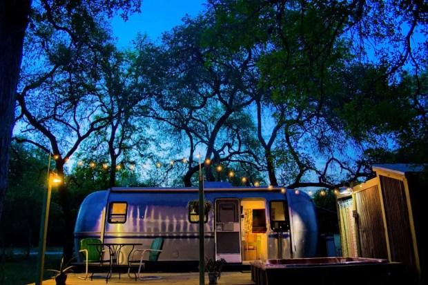 Airstream camper trailer rentals in Texas