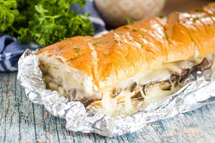 French Dip Sandwich - Foil Packet Camping Meal
