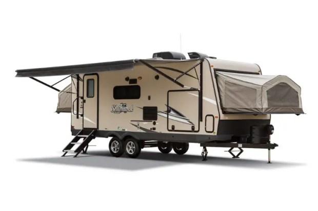 Hybrid Travel Trailer Exterior - 2020 Forest River Flagstaff- Shamrock 233S