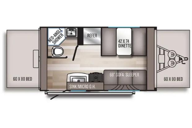 Hybrid Travel Trailer - 2021 Palomino Solaire Expandable - 147X Floor Plan