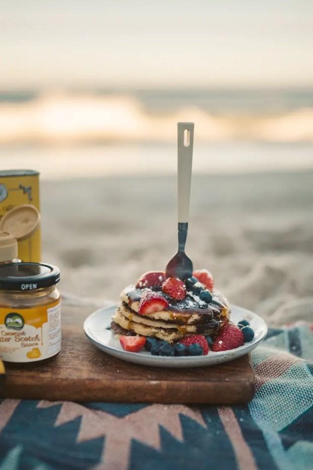 campfire pancakes - camping breakfast