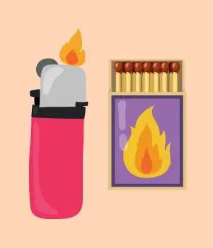 12 Lighter Matches