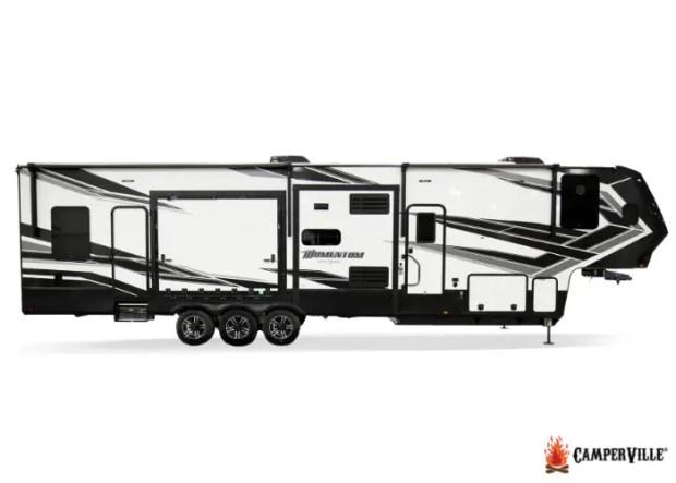 2021 Grand Design Momentum-399 Toy Hauler Travel Trailer - Exterior