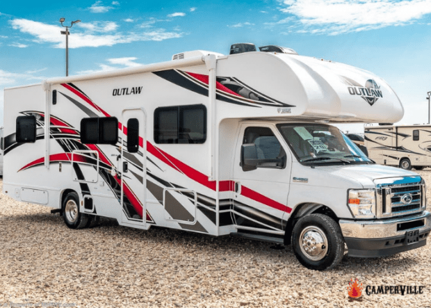 The 2021 Thor Outlaw 29J Toy Hauler - External View