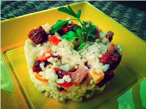 riso freddo con pomodorini secchi e tonnetto del mediterraneo campisi