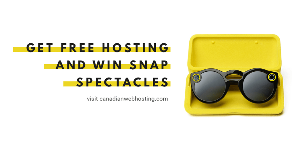 snap spectacles giveaway snapchat canadian web hosting free websites