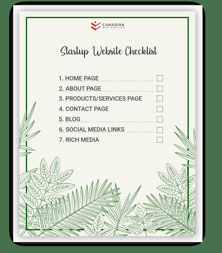 startup website checklist