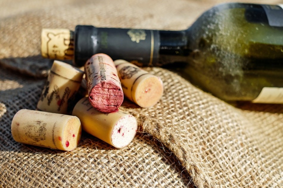 Tappo di una bottiglia di vino