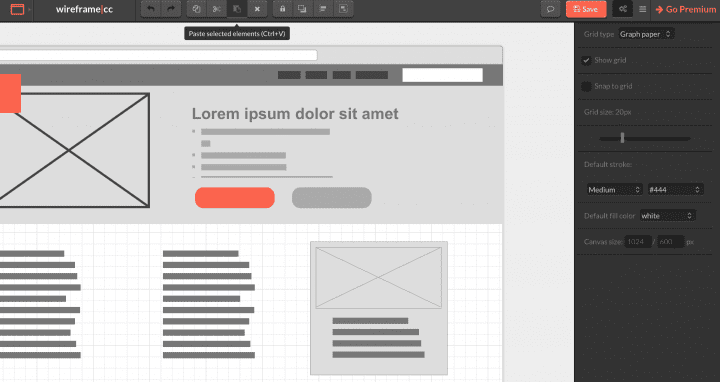 7 Free and Open Source Wireframe Tools to Optimize User Experience wireframe project in Wireframe cc